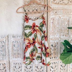 NWT Show me your mumu floral palm print tunic top